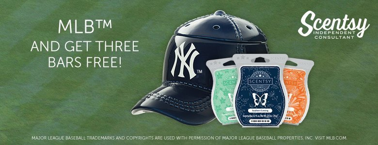 Baseball Warmer bundle with three FREE Scentsy Bars available now!