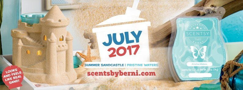 Summer Sandcastle and Pristine Waters – July 2017 Scentsy Warmer and Scent of the Month