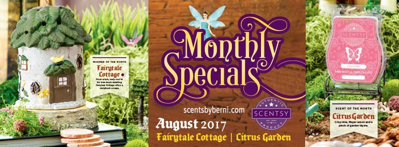 Fairytale Cottage and Citrus Garden – August 2017 Bonus Scentsy Warmer and Scent of the Month