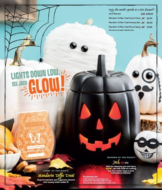Jack & Mandarin Toffee Treat, Scentsy Warmer and Scent of the Month September 2017