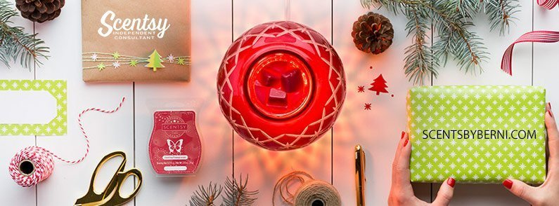 Christmas Glow and Dazzling Pomegranate – November 2017 Scentsy Warmer and Scent of the Month