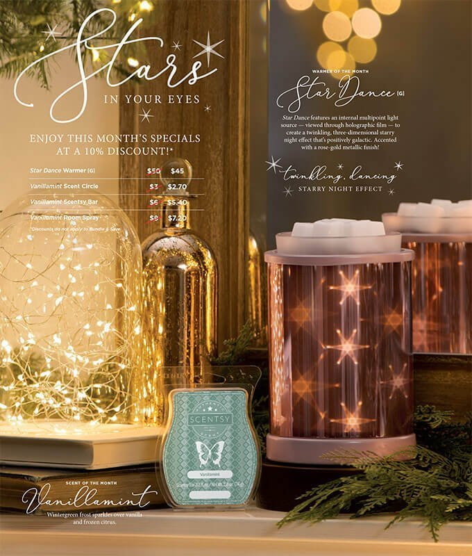 Star Dance Amp Vanillamint Scentsy S January 2018 Warmer Amp Scent Of The Month Scents By Berni