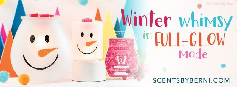 Frosty Glow and Be Merry, November 2018 Scentsy Scent and Warmer of the Month