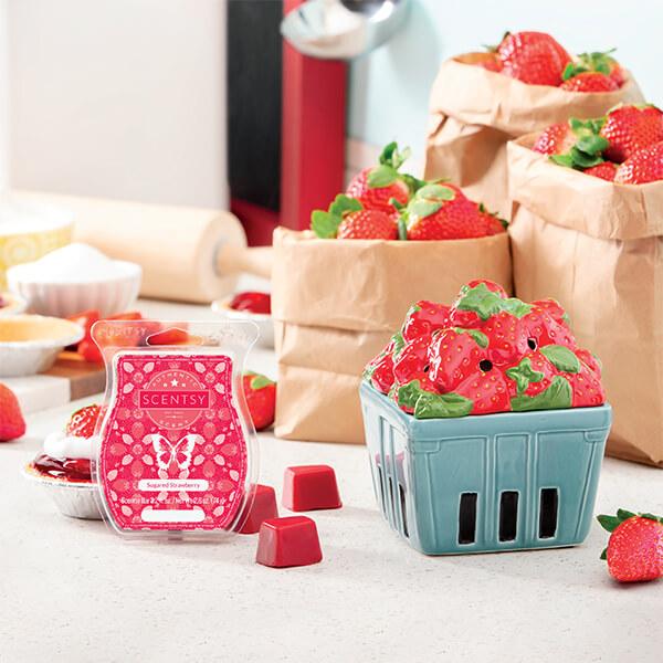 Strawberry Basket & Sugared Strawberry