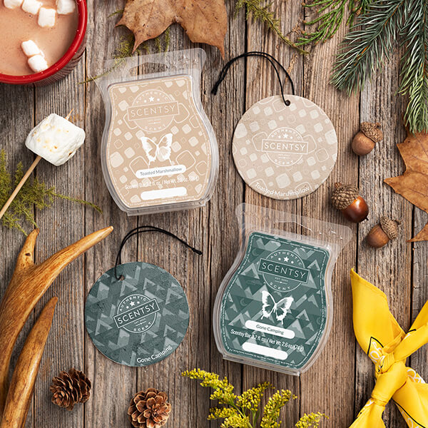 Toasted Marshmallow, Gone Camping Scentsy Bar, Scent Circle