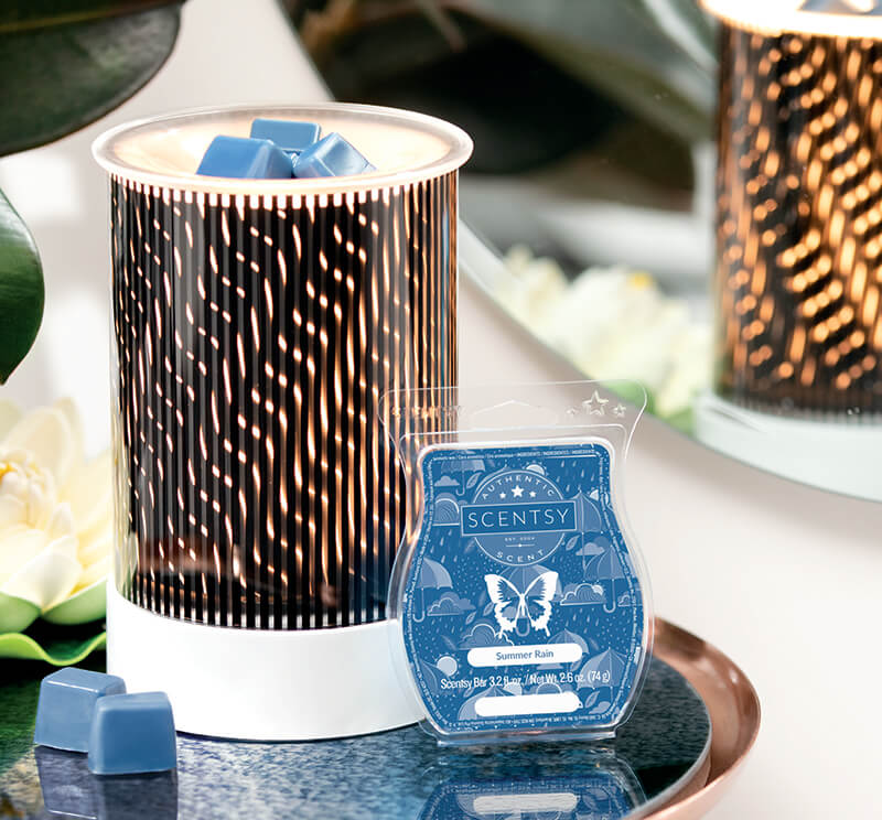 In Motion & Summer Rain, Scentsy Warmer and Scent of the Month June 2019