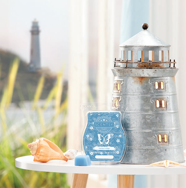 Portland & Harbor's Edge, Scentsy Warmer and Scent of the Month August 2019