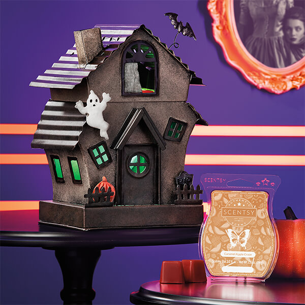 Manic Mansion & Caramel Apple Craze - Scentsy Warmer and Scent of the Month September 2019